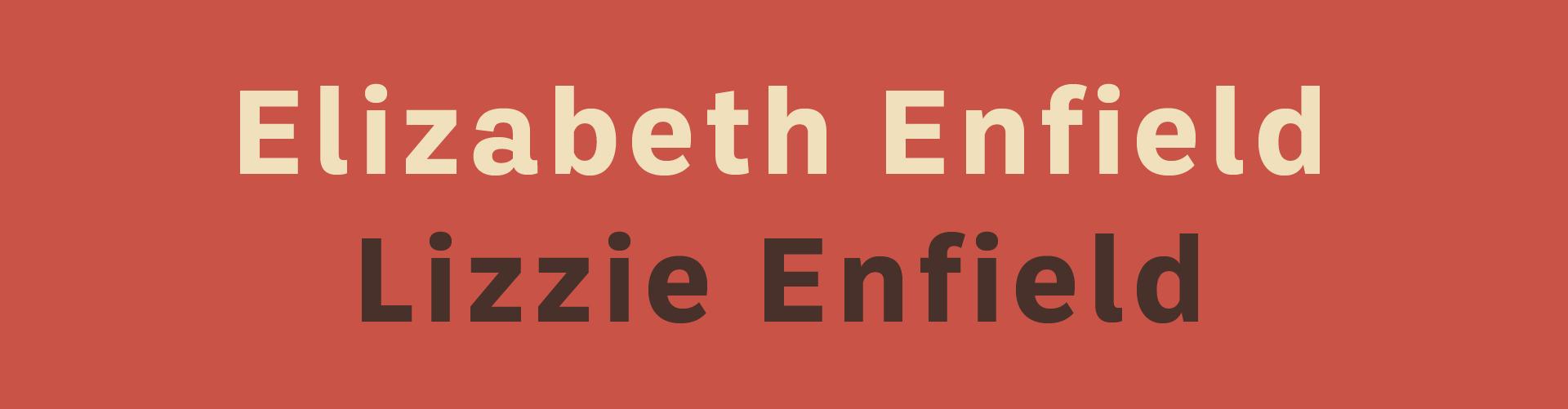 Elizabeth Enfield – Lizzie Enfield